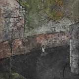 ROGNONI_Via Sotto con vento, 1988, olio su tela, 55 x 46 cm