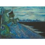 SASSU_Perseo, 1952, olio su tela, 70 x 100 cm