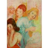 SASSU_Gruppo di donne, 1941, pastello, 100 x 70 cm