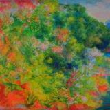SASSU_La Vuelta Del Rio, 1979, olio su tavola, 36.5 x 51 cm