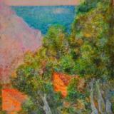 SASSU_Calò des Dioros, 1978, olio su cartone telato,40 x 30 cm