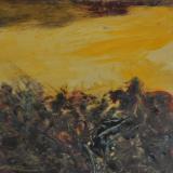 SASSU_Battaglia antica, 1954, olio su tavola, 24.5 x 37.5 cm