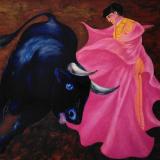 SASSU, Chiquelina(Paquirri) 1966, olio su tela, 114 x 145 cm