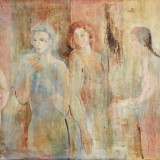 SASSU_Quattro donne, 1934, olio su cartoncino telato, 33.7 x 50.8 cm