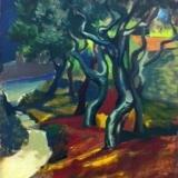GUTTUSO Anacapri, 1954, olio su tela, 49.5 x 37.5 cm