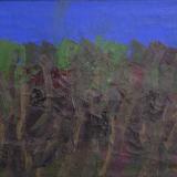 MORLOTTI, Bosco, 1967, olio su tela, 60 x 80 cm