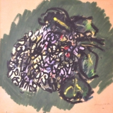 MORLOTTI_Ortensie, 1982, pastello, 36.5 x 34.5 cm