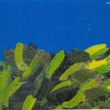 MORLOTTI_Vegetazione, anni 60, olio su cartone telato, 26.5 x 43 cm