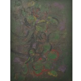 MORLOTTI_Vegetazione, 1961, olio su tela, 130 x 100 cm