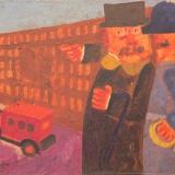 BORGHESE_Al servizio del cittadino, olio su tela, 30 x 40 cm