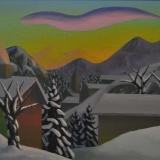 SALVO_Crepuscolo d'inverno, 2003, olio su tela, 40 x 50 cm
