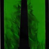 ANGELI_Nero, 1985-1988, tecnica mista su tela, 110 x 60 cm