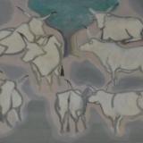 CESETTI_Tori, olio su tela, 50 x 61 cm