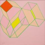 ACHILLE PERILLI_la nominazione, 1986, olio su tela, 50 x 50 cm