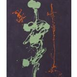 TURCATO_Senza titolo, olio su tela, 70 x 50 cm