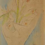 DE PISIS_Mazzo di fiori, 1931-1932, acquerello su carta, 40.4 x 24.8 cm