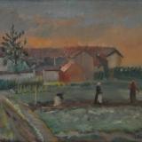 DEL BON_Campagna milanese, 1929, olio su tela, 45 x 55 cm
