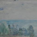 DEL BON_Marina dalla pineta, 1950, olio su tela, 36 x 50 cm