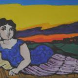 CANTATORE_Odalisca, 1971, olio su tela, 30 x 40 cm