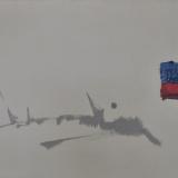 MATHIEU_Larigan, 1964, olio su tela, 65 x 115 cm