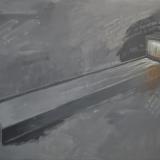 PLESSI_Reflecting water, 1981, tecnica mista su carta intelata, 150 x 200 cm