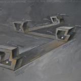 PLESSI_A Panarea non c'è la televisione, 1982, tecnica mista su carta intelata, 150 x 200 cm