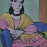 CANTATORE_La poltrona blu, 1980, olio su tela, 40 x 30 cm