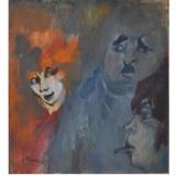 MACCARI_L'indeciso, 1981, olio su tavola, 41.7 x 39.5 cm
