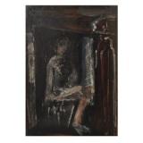 SIRONI_Donna seduta_olio su tela_50 x 35 cm
