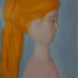 ANTONIO BUENO_Profilo, 1968, olio su tavola, 50 x 40 cm