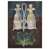 GENTILINI_Le ampolline 2, 1974, olio e sabbia su tela, 70 x 50 cm