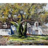 CASCELLA_Giardino di Carmel_prima metà anni 60_olio su tela_70 x 90 cm