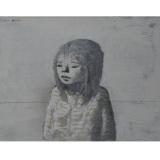 XAVIER BUENO_Bambina, 1975, olio su tela, 38 x 46 cm