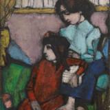 CANTATORE_Donna e ragazza II, olio su faseite, 57 x 53.5 cm