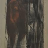MATTIOLI_Figura, 1957, tecnica mista su carta, 60 x 36 cm