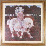 POSSENTI_ Un ritratto equestre_olio su tavoletta_100 x 100 cm